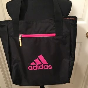 🆕 AUTHENTIC ADIDAS PINK/BLACK TOTE